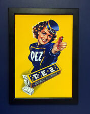 Pez Candy Dispenser Vintage 1940 Framed A4 Size Poster Shop Display Sign Advert