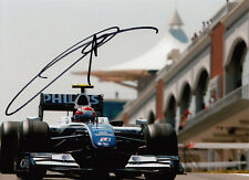 Kazuki Nakajima mano firmado AT&T Williams F1 Foto 7x5 12.
