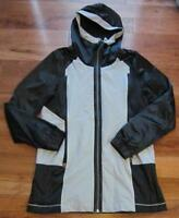 LULULEMON right round jacket hoodie black and ACTIVE grey size 6 water resistant