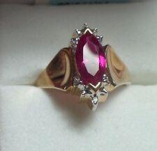$1289 Women's 2.2ctw Diamond/Ruby,, 10KC Yellow Gold Ring, Size 7, NIB