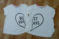 M&S GIRLS S/S  T-SHIRTS, 2 IN TOTAL, AGE 8-9 YEARS, BNWT