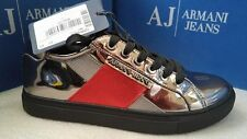 Armani women's Mirrored Chrome Sneakers size 6.5UK (40EU)