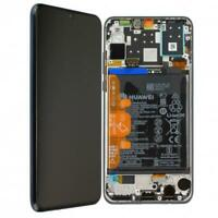 Original Huawei P30 LITE Display LCD mit Rahmen Akku MAR-L01A - Schwarz Black