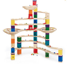 Hape Quadrilla Challenger Wooden Marble Run Race Maze Kid Toy Track Building Set
