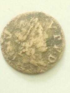 1600s France Louis XIV Denier Tournois  Medieval French Coin