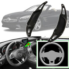 2pcs For Mercedes-Benz SL63 Steering Wheel DSG Paddle Shifters Extension Black