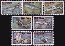 VIETNAM N°1190/1196** Poissons Requins, 1991 Vietnam 2236-2242 Shark Fish MNH