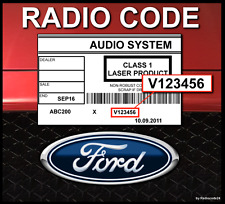█►RADIO CODE Ford V Code SONY 6000 CD Radio Code Key Unlock Decode