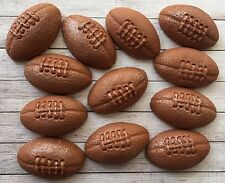 12 handmade edible rugby balls,fondant cupcake/cake toppers