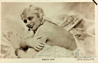 EVELY LAYE ACTRESS AUTOGRAPH SIGNED REAL PHOTO POSTCARD RPPC