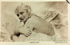 More details for evely laye actress autograph signed real photo postcard rppc
