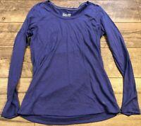 NIKE drIFIT Loose Fit Purple Yoga Athletic crossFIT Running l/s Shirt womens S