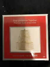American Greetings Heirloom 2011 First Christmas Together Wedding Cake Ornament