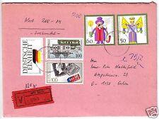 Wertbrief, Buntfrankatur BRD / DDR, o Berlin, 15.12.91