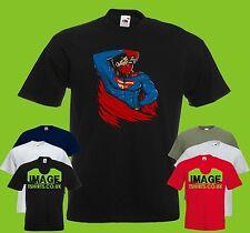 Deadman Mens PRINTED T-SHIRT Mashup Superman Deadpool Funny Movies Merc Hero