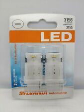 Sylvania LED Light 3156 White 6000K Two Bulbs Stop Brake Tail Replace Upgrade OE