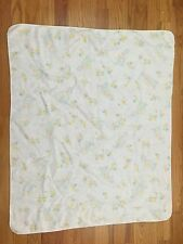 Vtg Giraffe Duck Baby Receiving Blanket Flannel Hospital Swaddle 70s 80s AD