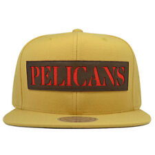 New Orleans Pelicans LASER CUT LEATHER Snapback Mitchell & Ness NBA Hat