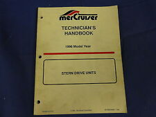 MerCruiser Mercury 1996 Stern Drive Units Technician's Handbook