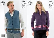 King Cole  DK Knitting Pattern 3272: Mens  Waistcoat & Ladies Jacket