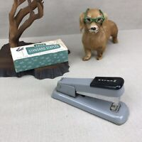 Bates 88 Vintage Hand Held Stapler Black Gray Desktop & Staples