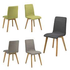 2er Set Esszimmerstühle ARATA Stühle gepolstert Holzgestell Stoff FARBWAHL