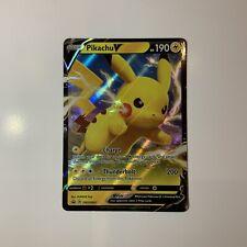 MINT Condition Pikachu V SWSH061 Holo/Shiny Pokemon Card Black Star Promo Rare