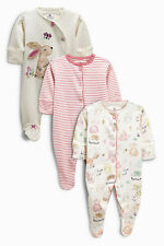 ВNWT NEXT Babygrows Outfit • Spot Bunny Sleepsuit 3pk • 100% Cotton • 1 Month