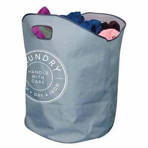 XL LAUNDRY BAG Basket Handles Foldable Washing Sack Clothes Storage Bin Bag