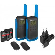 Motorola t62 Talkabout azul-negro pmr/teléfono para bebés radios (alcance: 8km)