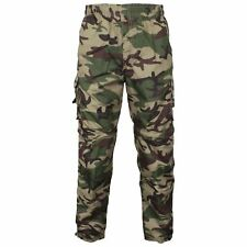 MENS 3 IN 1 CAMOUFLAGE TROUSERS ZIP OFF SHORTS COMBAT CARGO ARMY WORK PANT S-2XL