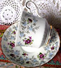 Royal Stafford Enchanting Teacup and Saucer, English Purple Violets Tea Cup Set