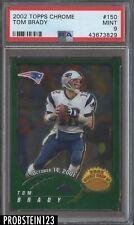 2002 Topps Chrome Tom Brady New England Patriots PSA 9 MINT