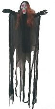 6ft HANGING HOODED GRIM REAPER ZOMBIE SKELETON SKULL PARTY DECOR ANIMATED PROP