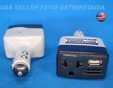 12-VOLT DC CAR CIGARETTE LIGHTER to HOME 110 AC WALL OUTLET & UAB POWER INVERTER