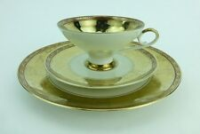 Bareuther Waldsassen Cup Saucer and Dessert Plate Set 102 Gold Bavaria Germany