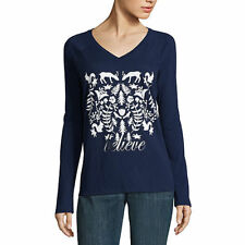 NWT ST. JOHN'S BAY LS BELIEVE CHRISTMAS TOP SIZE LARGE