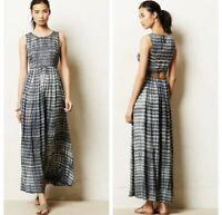 Anthropologie Neuw Shibori Tie Dye Boho Maxi Dress Size Small S NWOT