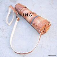 18 inch VINTAGE Nautical Marine Spyglass18 inc Brass Telescope with Leather case