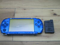 Sony PSP 3000 Console Vibrant Blue w/battery pack M968