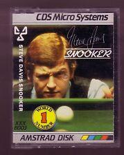 Steve Davis Snooker (CDS Microsystems 1985) Amstrad DISK Disc - GC & Complete