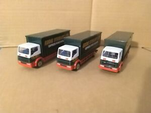 3 Corgi Eddie Stobart Lorries. Small Scale. VGC.