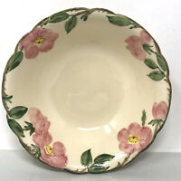 "Vintage 1940s Franciscan Desert Rose 9"" Round Serving Bowl Made in California"