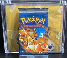 POKEMON 1ST EDITION BASE SET BOOSTER PACK CHARIZARD ARTWORK *UNWEIGHED*SPANISH*