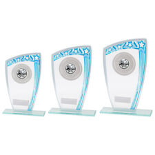 GALAXY STAR BLUE 5mm Glass TROPHY AWARD 3 SIZES FREE ENGRAVING and logo