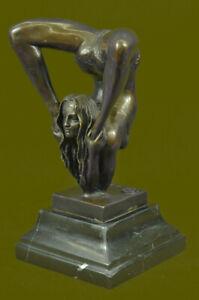 Signed Bronze Metal Erotic Contortionist Actrobat Sexual Sculpture Statue Gift