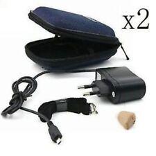 2x AXON K-88 Apparecchi Protesi Acustici Auricolare In-Ear Amplificatore Audio