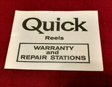 Dam Quick Spinning Reel Finessa N Series Warranty and Repair Stations Booklet