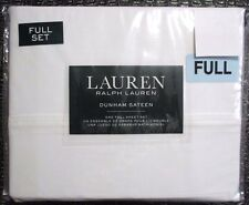 NEW Ralph Lauren 300TC 100% Cotton Dunham Sateen FULL Sheet Set White 4 Pc NIP