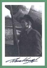 Tadeusz Karnkowski DECEASED WWII Polish Fighter Pilot Signed 4x6 Photo E19146